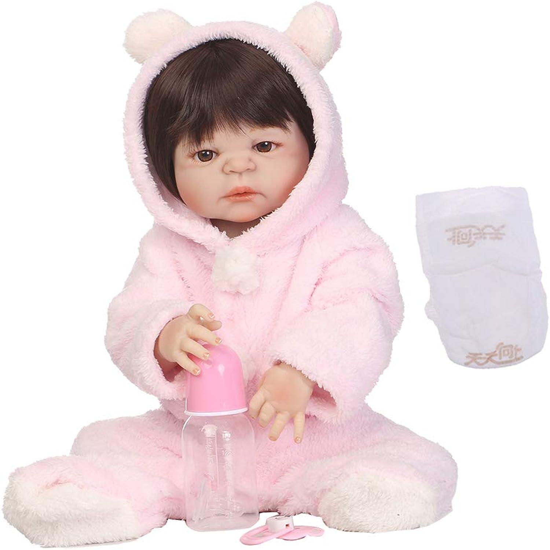 Fityle 22'' 57cm Reborn Girl Doll Realistic Real Looking Lifelike Soft Vinyl Kids Growth Partner Birthday Gift Xmas Present