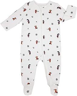 Zip Up Sleep N Play, 100% GOTS Organic Cotton Certified, Footed Long Sleeve Zipper Romper, Unisex Baby Pajamas, Bodysuit f...