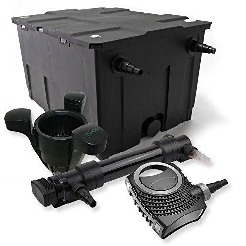 SunSun 1-Kammer Filter Set 60000l 36W UVC 6er Teich Klärer NEO10000 80W Pumpe Skimmer
