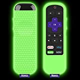 Protective Case for TCL Roku TV Steaming Stick 3600R Remote, Silicone Cover Shock Proof Remote Controller Skin, Anti Slip Universal Replacement Sleeve(Glow Green) (Renewed)