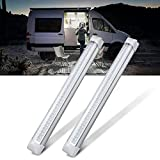 MICTUNING 13.5 Inch Car Interior Led Light Bar 3.5W 72 LED Lamp with On Off Switch for Van Lorry Truck Camper Boat 2 Pcs