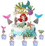 Sunshine smile Cake Topper de Sirena,Cupcake Topper Set,de Sirena Cupcakes decoración,Cupcake...
