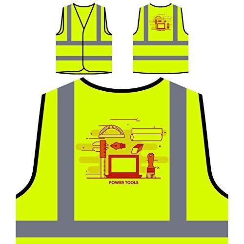 Herramientas Eléctricas De Internet En Línea Chaqueta de seguridad amarillo personalizado de...