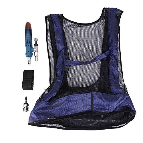 Kafuty Gilet de sécurité de Protection Soudage Gilet de Refroidissement à air comprimé en Acier Tube de Vortex Gilet de climatiseur