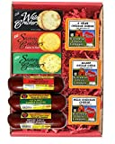 WISCONSIN'S BEST AND WISCONSIN CHEESE COMPANY -Popular 100% Wisconsin Big Deluxe Cheddar Cheese, Sausage & Cracker Gift Box. Great Gift for Delivery!