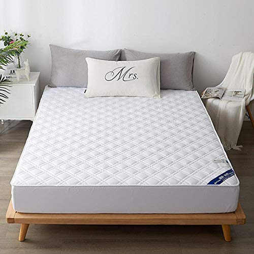 FFLDM Mattress Cover Super King,100% Cotton Solid Color Thick Mattress Protection Cover, Adjustable Fit Sheets Suitable For Hotel Apartments-white_200*230+30cm