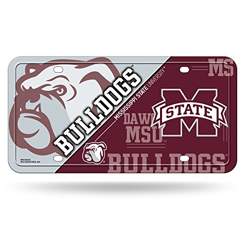NCAA Mississippi State Bulldogs Metal License Plate Tag
