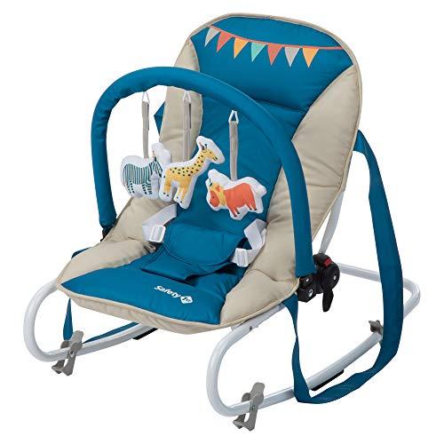 Safety 1st Koala - Hamaca bebé reclinable con Funcion mecedora y Arco de juego, Desde el nacimiento hasta los 6 meses (hasta 9 kg), Ligera, plegable y compacta, Color Happy Day 2