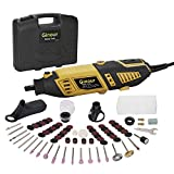 Multifunktionswerkzeug Advanced, Ginour Drehwerkzeug 170 Watt mit 105 Zubehör und 4 Aufsätze, 7 Drehzahleinstellungen Werkzeug Set für Hand- und Heimwerker