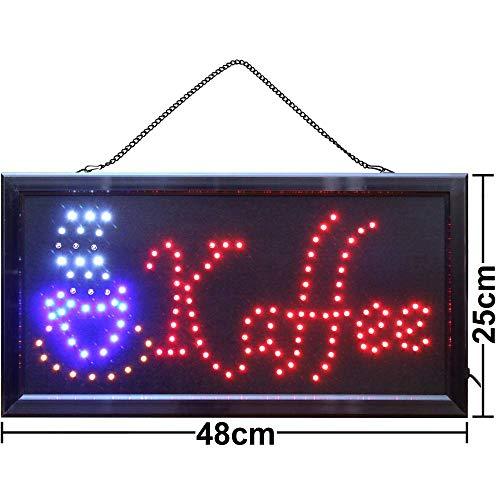 LED Schild Leuchtreklame Ladenschild Kaffee