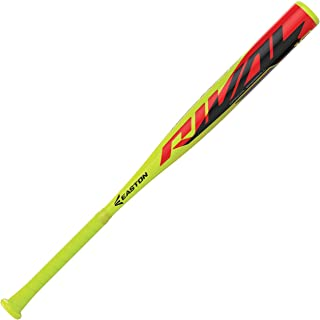EASTON RIVAL -10USA Youth Baseball Bat | 2 1/4 inch Barrel | 2020 | 1 Piece Aluminum | Lightweight ALX100 Military Grade Alloy | Pro Style Concave End Cap | Cushioned 2.2mm Flex Grip