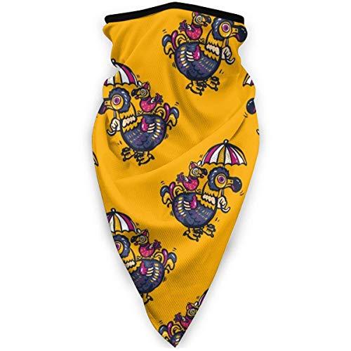 Nother Dodo - Máscara para pájaros (resistente al viento, bandana, bandana, polaina, pasamontañas), color negro