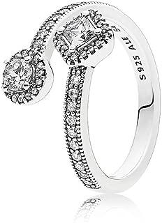 Pandora Women's Sterling Silver Cubic Zirconia 925 Silver Ring, 56 EU - 191031CZ-56