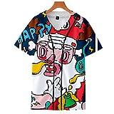 Camiseta de Baseball Navidad 3D Impresión Manga Corta Camiseta Deportiva Botón Delantero Béisbol Mesh Jersey Camisetas Tops para Hombre Mujere Youth