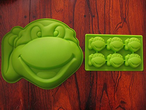 Teenage Mutant Ninja Turtles Silicone Cake Mold Chocolate Mini Cake Pan Set