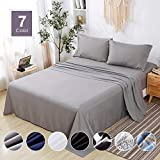 Agedate 4 Piece Brushed Microfiber Bed Sheets Set, Deep Pocket Bed Sheets Queen, Hypoallergenic,...