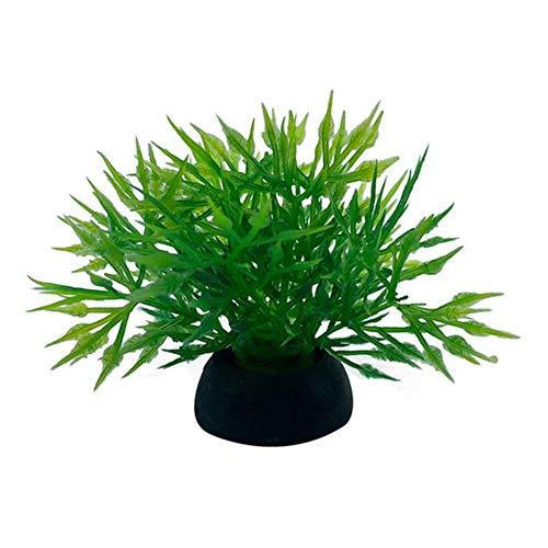 huixu 2 Pcs Simulation Artificial Plants Fish Tank Decor Water Ornament Plant...