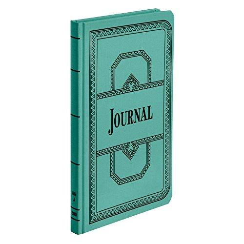 Boorum & Pease 66 Series Account Book, Journal Ruled, Green, 300 Pages, 12-1/8' x 7-5/8' (66-300-J)