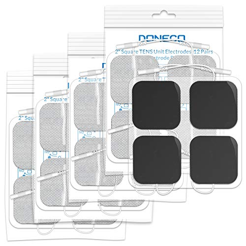 DONECO TENS Unit Pads 2X2 20 Pcs Replacement Pads Electrode Patches for Electrotherapy -Universally Compatible with Most TENS Machine Models