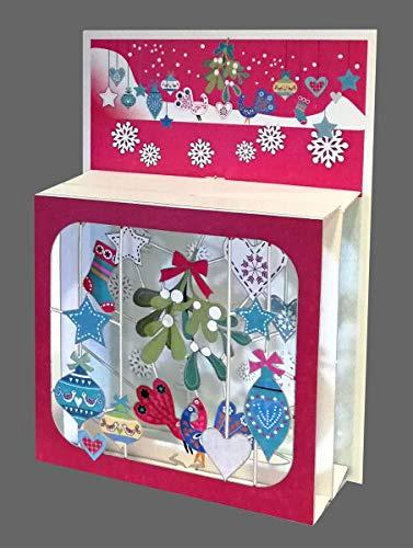Forever - Tarjeta de Navidad con 3 niveles (láser, 17 x 13 cm)