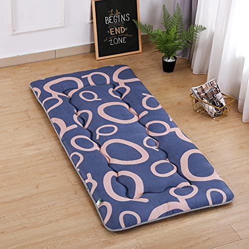 ZUSFUL Estera del Piso del Tatami colchón del futón del colchón del Piso colchón portátil del Piso colchón Que acampa para los Adultos,90x200cm