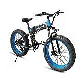26' Bicicleta Eléctrica E-Bike Plegable, 1000W Bicicletas Electricas de Montaña para Hombres con Batería Extraíble de 48V 13AH, 4.0' Neumático Gordo, Bicicleta Electrica Adulto Unisex