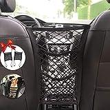 KITBEST (2 Pack) Car Mesh Organizer, 3-Layer Car Storage Organizer Seat Back Net Bag, Barrier of Backseat Kids Children Pet Dog, Cargo Tissue Handbag Purse Holder, Driver Storage Netting Pouch