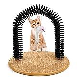 Peluquero para Gatos Raspador Y Juguetes del Juego del Raspador del Masajeador del Cuidado del Uno Mismo del Gato Multipropósito Que Se Asea del Uno Mismo del Gato