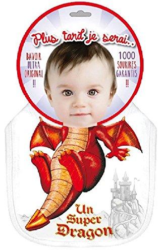 p2g - Bavoir Garçon Plus Tard Je Serai Un Super Dragon