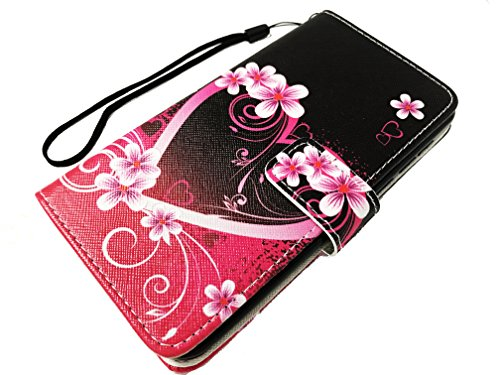 For ZTE Quest Legacy Virgin Assurance QLink N817 N-817 Wallet Credit Card Stand Pouch Case Phone Cover + Gift Stand (Wallet Pink Love Heart)