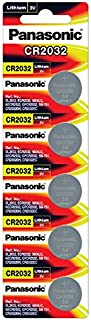 Panasonic Lithium CR2032/5BE 3V Battery - Pack of 5 (Multicolor)