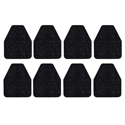 STAY CLEAN Urinal Mats - Case of 8 Deodorizing Urinal Floor mats - Black Disposable Floor Toilet Urinal mat for Industrial, Commercial & Restaurant restrooms & Bathroom - Rubber Non-Slip Backing
