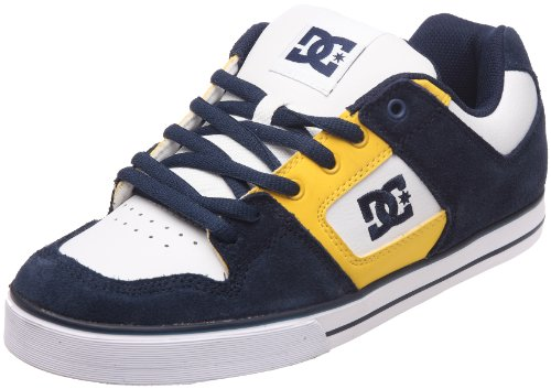 DC Shoes Pure Slim Mens Shoe D0301970, Herren Sneaker, Blau (DC Navy/White DNW), EU 38 (UK 5) (US 6)