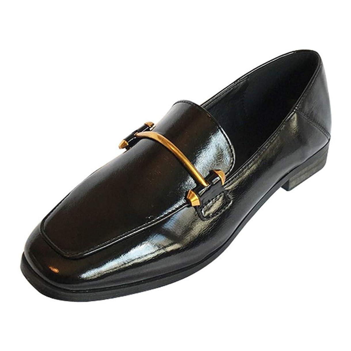 猫背間違いなく表現[リンゼ] 靴 フラットシューズ レディース ローファー 学生 ローファー レディース トラッドシューズ オジ靴 メタルトリム付き ローファーパンプス 婦人靴 旅行 デート 発表会 ドライビング 入学式 入園式