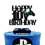 Game Controller Happy 10th Birthday Cake Topper,Gaming Birthday Cake Decoe,10 Year Old for Gamer Party, Happy Birthday Video Game Party Decoration Supplies