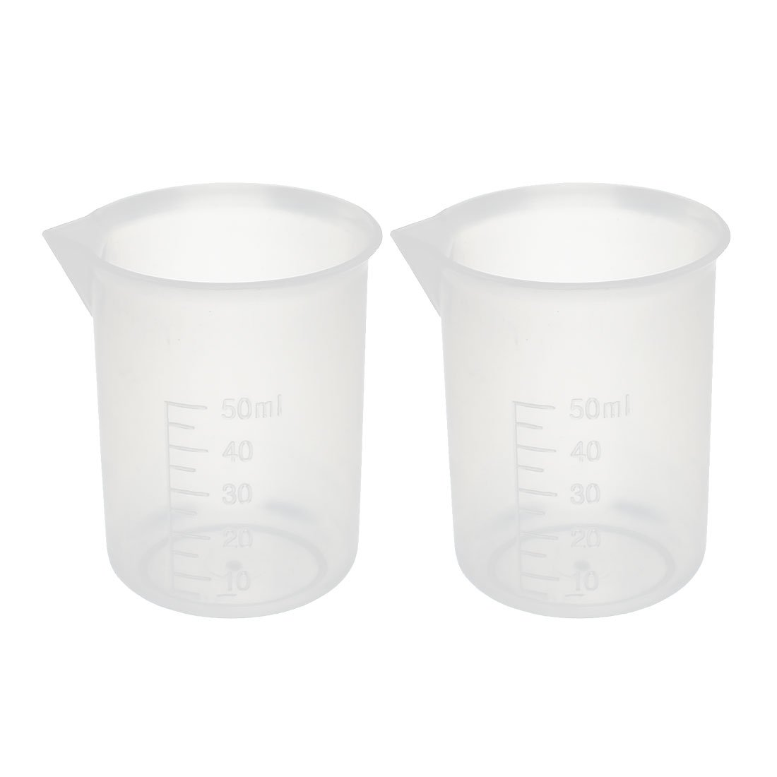 uxcell Free shipping 2pcs Max 56% OFF Kitchen Lab 50mL Clear Cup Pou Plastic Measuring Jug