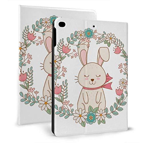 Case Ipad Cute Cartoon Rabbit Bunny Animal Ipad Case Covers For Ipad Mini 4/mini 5/2018 6th/2017 5th/air/air 2 With Auto Wake/sleep Magnetic Ipad Ipad Case