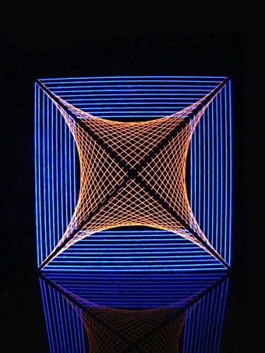 PSYWORK 2D StringArt Orange Spider Black - Guirnalda de Luces (90 cm)