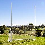 FORZA PVC Football/Soccer Combination Goals | Multi-Sport Backyard Goals [3 Sizes] (8 x 5)