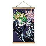 WPQL Lienzo de alta calidad para colgar un cuadro, One Punch Man-390, mural de lienzo moderno, mural de póster, fácil de instalar - 33.1 x 20.4 pulgadas.