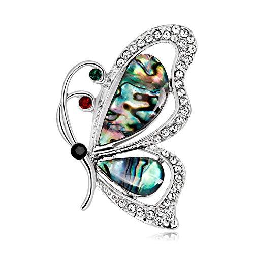 Carry stone Premium Qualität Brosche, Elegant Schmetterling Bunte Strass Schal Hemd Brosche Frauen Party