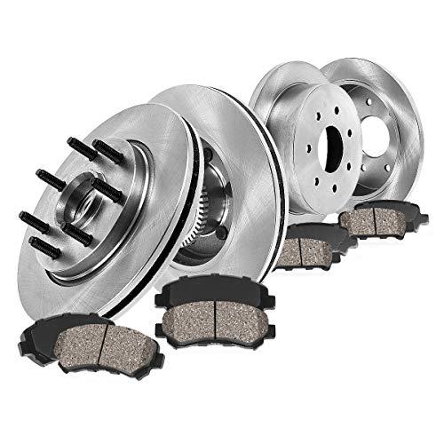 [ RWD ] FRONT 308 mm + REAR 334 mm Premium OE 7 Lug [4] Rotors + [8] Quiet Low...