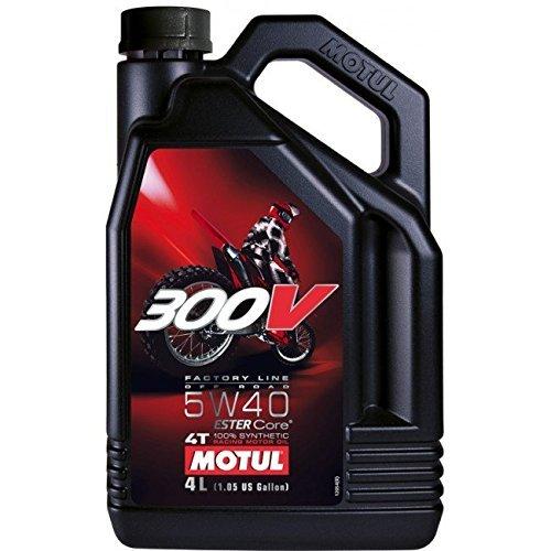 MOTUL (モチュール)300V Factory Line Off Road 5W40 バイク用オフロードエンジンオイル 100%化学合成(エステル) 4L [並行輸入品]