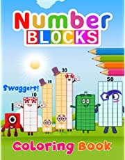Swaggers! - Numberblocks Coloring Book: Numberblocks 1 to 50 - High Quality, Fun, Easy and Relaxing Coloring Pages For Children