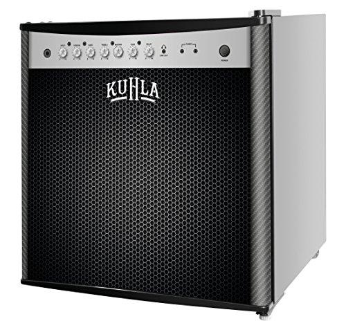 Kuhla 43 Litre Mini Fridge with Ice Box, Novelty Design, Inc Adjustable Thermostat, Door Racks and Removable Shelf, Small Drinks Fridge Ideal for Home and Office – Amp Speaker, Black KTTF4BGB-1004