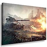 Panzer Schlacht Game Leinwandbild / LaraArt Bilder /