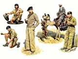 Master Box Models 1/35 British Troops in Northern Africa, WWII - 6 Figures Set with Camel