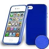 Cadorabo Coque pour Apple iPhone 4 / iPhone 4S en Bleu – Housse Protection Souple en Silicone TPU...