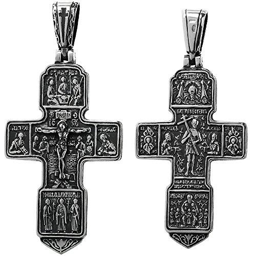 NKlaus 925er Sterlingsilber Silber Kruzifix Kreuz Anhänger Orthodox russisch 6280 Taufe