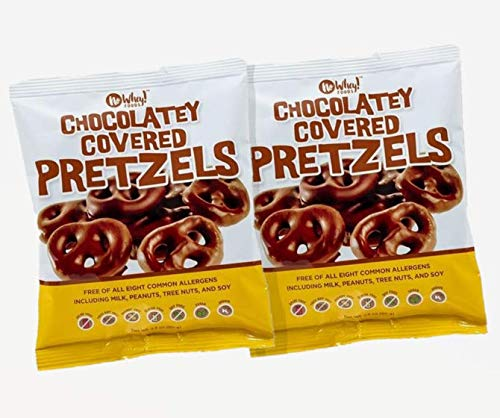 No Whey Foods - Chocolatey Covered Pretzels (2 Pack) - Vegan Chocolate Candy - Dairy Free, Peanut Free, Nut Free, Soy Free, Gluten Free